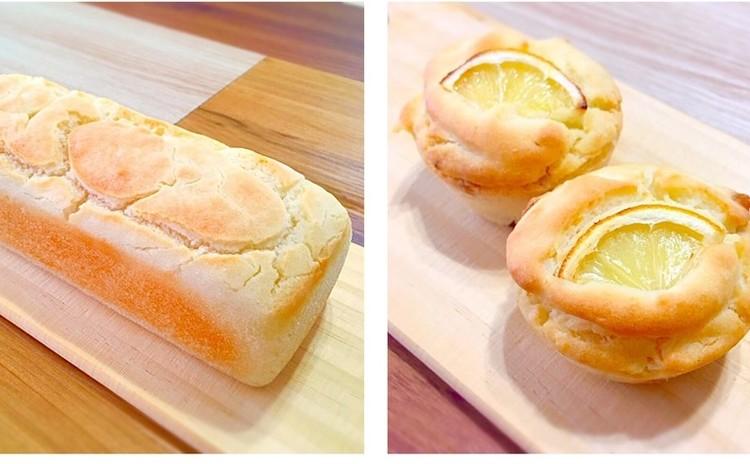 基本の米粉パンとレモンマフィン
