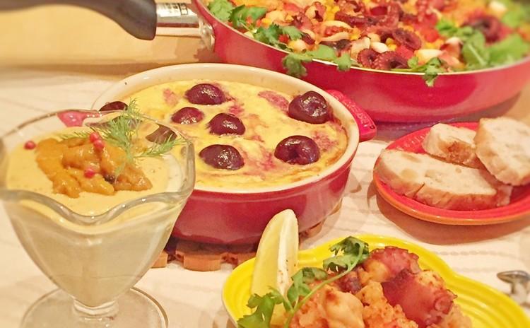 フライパンで究極の蛸パエリアを作ろう♪~絶品ウニのせ焼茄子ムースも!