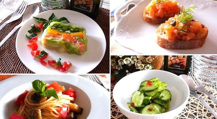 夏野菜のテリーヌやスモークサーモンのディップ 夏のひんやりレシピ