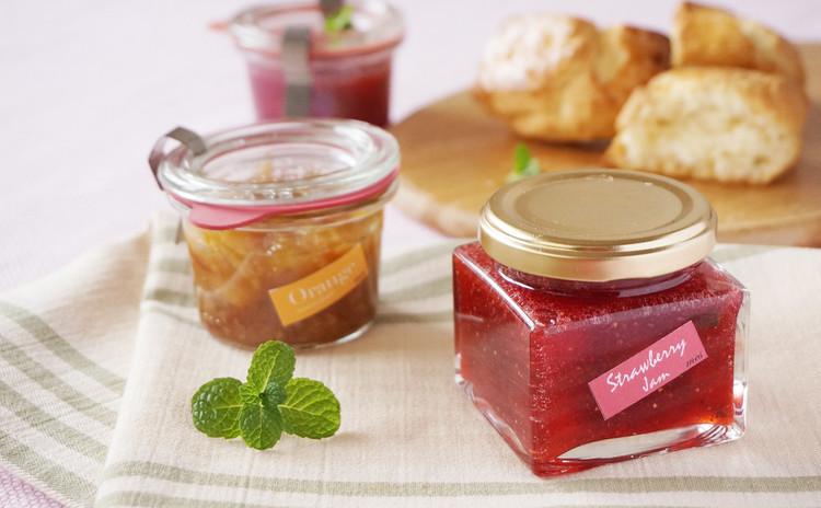 煮詰めない苺ジャム&ナッツ入グレープフルーツマーマレード&豆乳スコーン