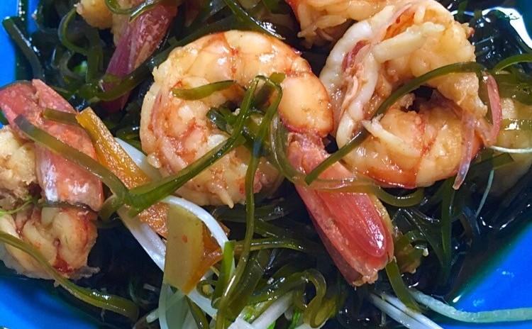 すき昆布と海老の煮物