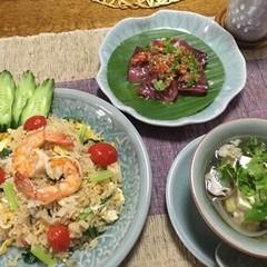タイの海老チャーハン♪ 旨味たっぷりの豆腐のスープを作ります!