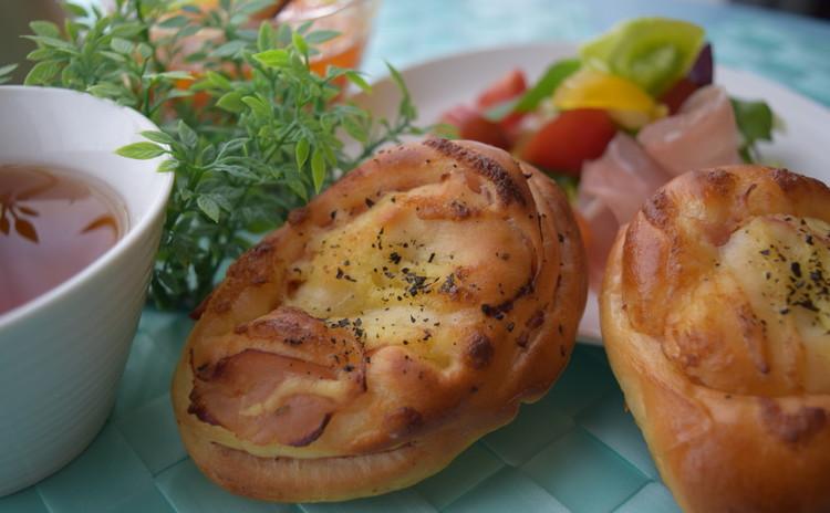 ♪人気の総菜パン(^^)/ハムロール&紅茶ブレッド【ランチ付き♪】