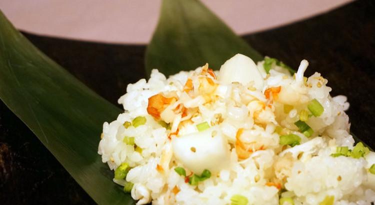 蕪と海老の変わり寿司