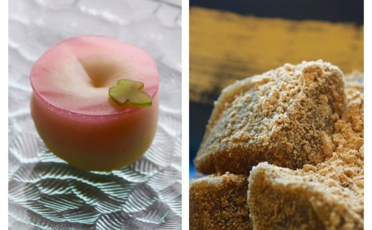 6月の和菓子レッスン♪「朝顔の練り切り」と「高級本わらび餅」