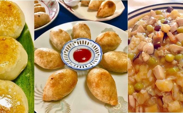 浮粉生地で作るニラ饅頭&ハムスイコと福建炒飯