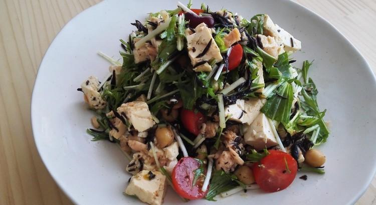 水菜とひじきの和風サラダ