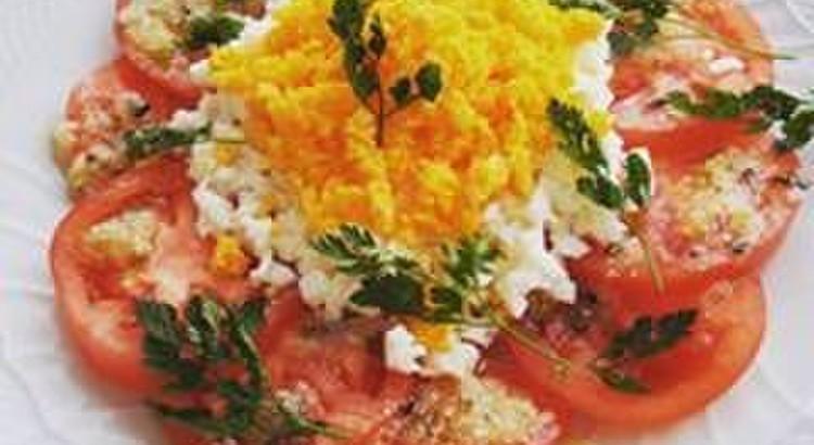 トマトのミモザサラダ