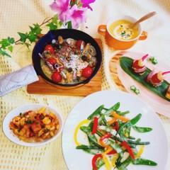 旬の野菜、魚がたっぷりおうちバルメニュー5品 手作りベーコンも作ります
