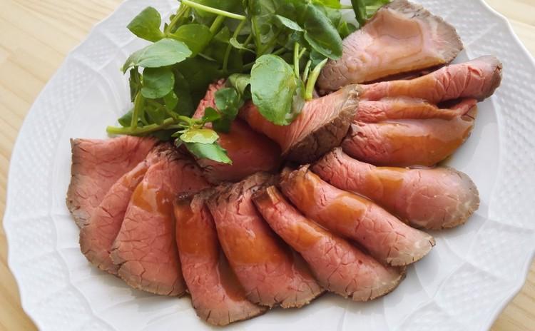 ローストビーフ!&エビのアヒージョ。普段のご飯、おもてなしにも♪
