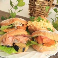 健康バンズとフィリング4種習えるレッスン☆冷凍サンドイッチのコツ伝授付