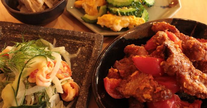 初夏の野菜たっぷりの4品!トマト酢豚 きゅうりと海老のサラダ