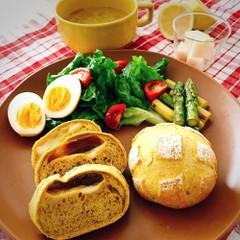 【自家製酵母】レーズン酵母のカレーチーズブール&酵母液のお料理etc