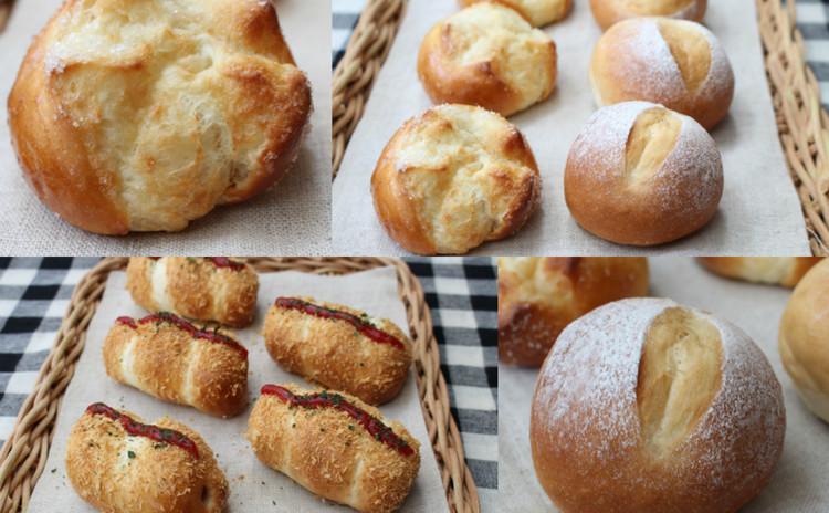 基本を学ぶ・ミルクパン・ミルクシュガー・揚げパン風ソーセージパン