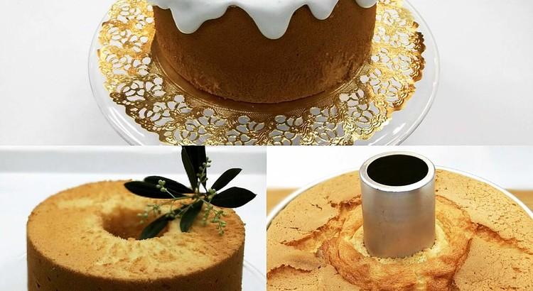 はじめてさんのバニラ・シフォンケーキと紅茶のシフォンケーキ❤