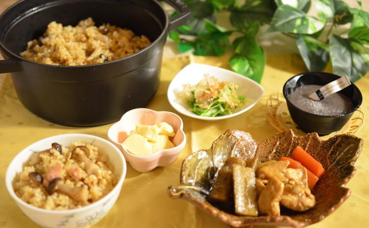 基本のおだしお土産つき☆味浸み旨い鶏ごぼう・なめらか食感の卵豆腐作り