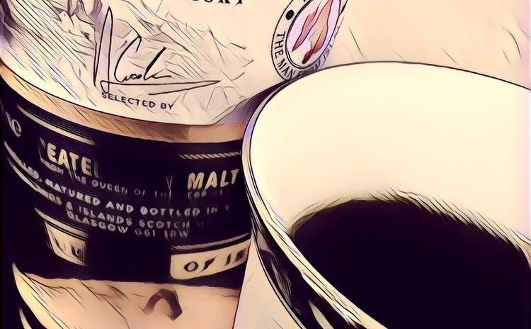 【試飲】ほうじ茶珈琲、いり番茶珈琲、燻製珈琲、ウイスキー珈琲