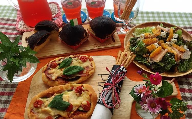 ひとつの生地でイタリアンなパン&簡単で美味しいスパイシーなグリッシーニ