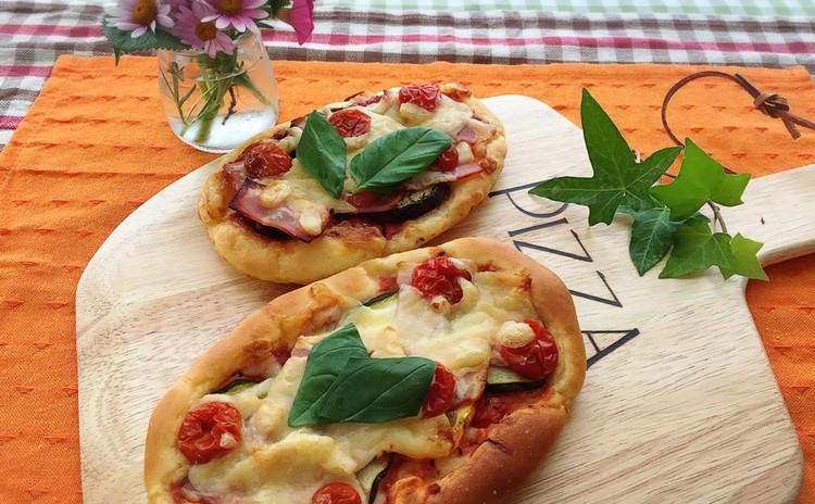 ひとつの生地で2種類のイタリアンなパン~ピザ~