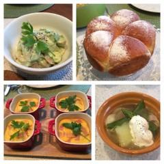 スウィートコーンブレット〜春野菜とオレキエッテのスープ・春のデリ2種〜