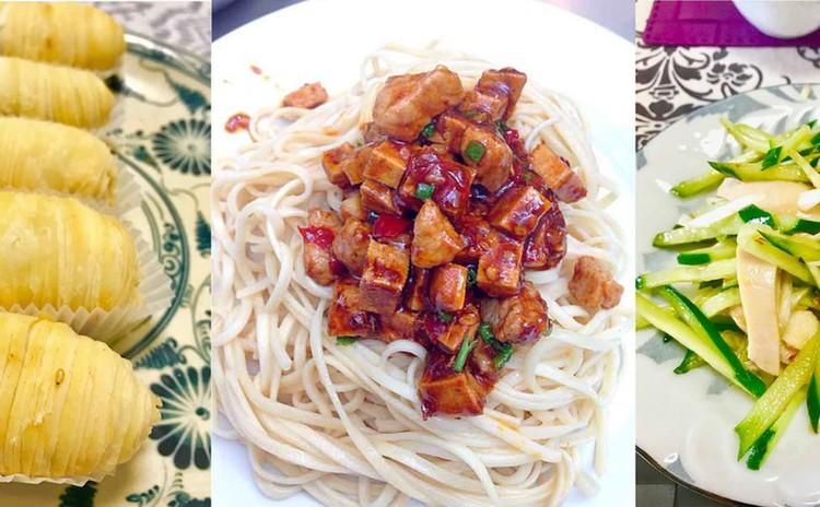 アレンジ方法をレッスン⭐️さっぱり上海冷麺☆サクサクとろーり大根パイ