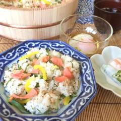 楽チン和食で夏のおもてなし♫ちらし寿司〜デザートのマンゴアイス迄全6品