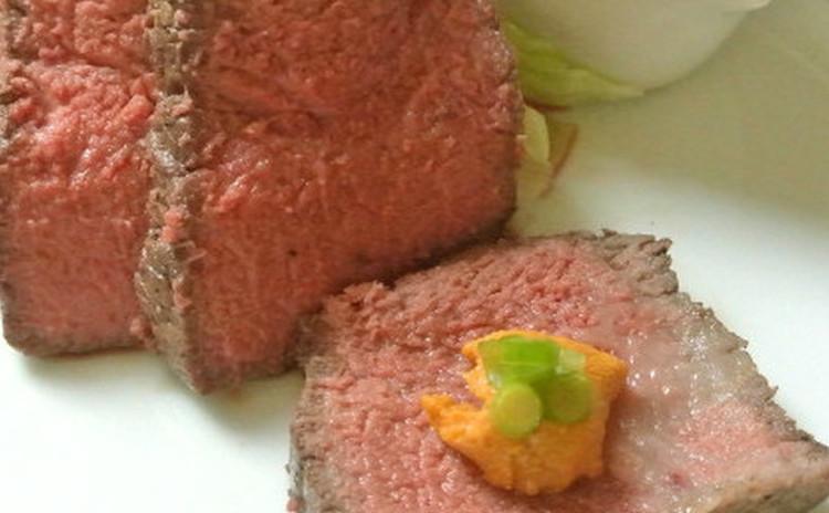 絶品ソースと共に♬オーブンを使わない簡単ローストビーフ