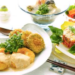 やり繰り時に頼もしいクリームコロッケと、爽やか・健やかな夏野菜献立!