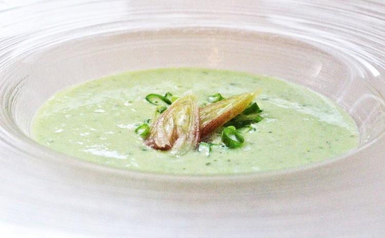 豆腐と夏野菜の冷製スープ