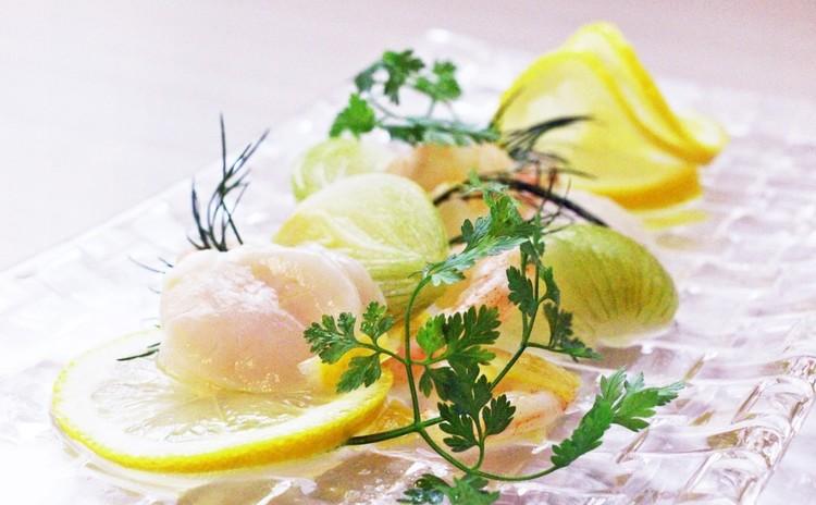 魚介とペコロスのレモンコンフィ