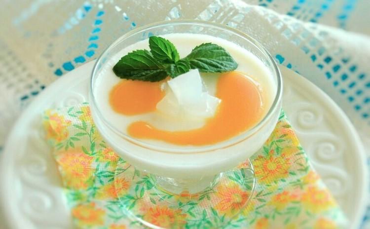 夏季限定☆無花果と旬のフルーツのタルト&ココナッツブランマンジェ