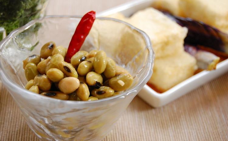 青大豆(ひたしまめ)のペペロンチーノ