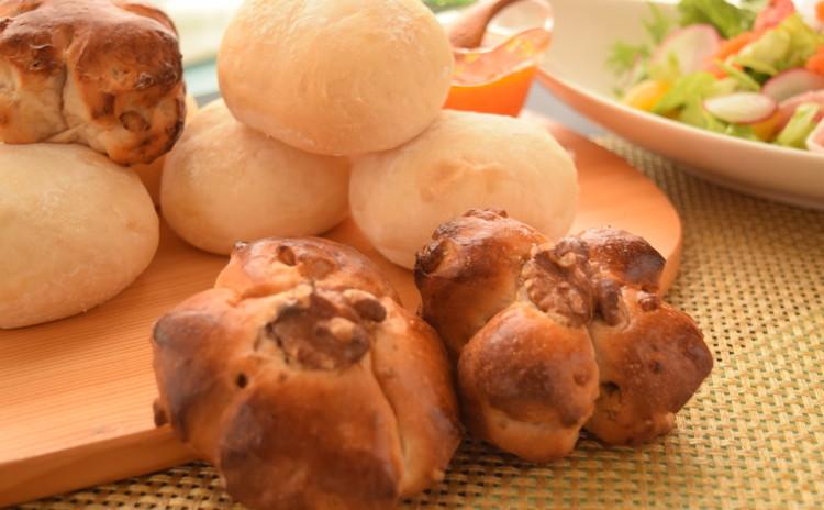 ■憧れのハイジの白パン&クルミたっぷりザクザク胡桃パン