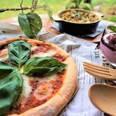 トマトジュース酵母でPizzaを焼こう!デリ&お洒落デザートも添えて♡