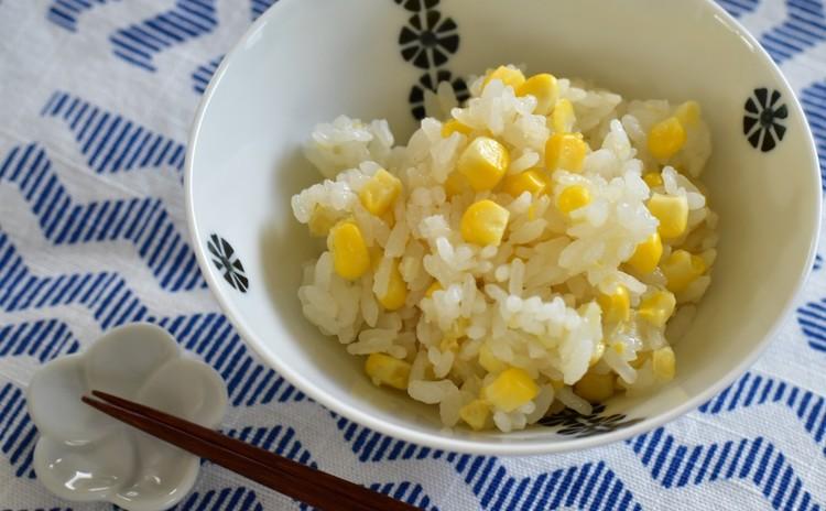 トウモロコシの炊き込み御飯