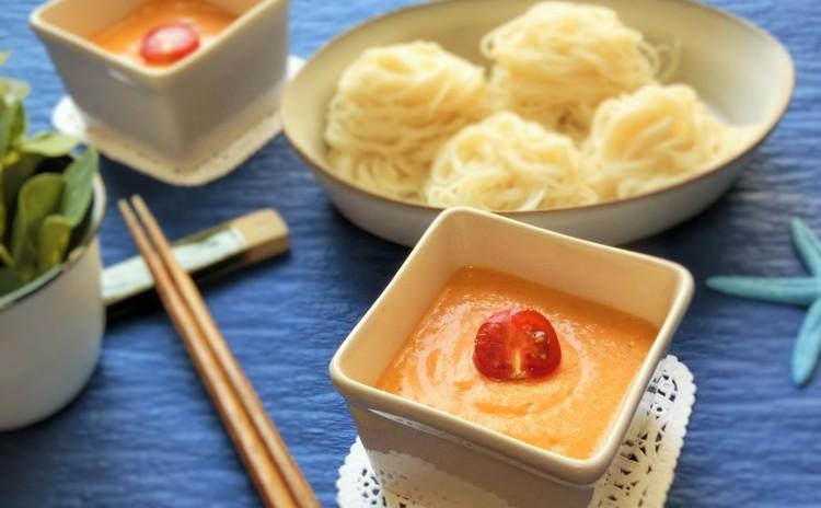 豆乳つけ麺 トマト味