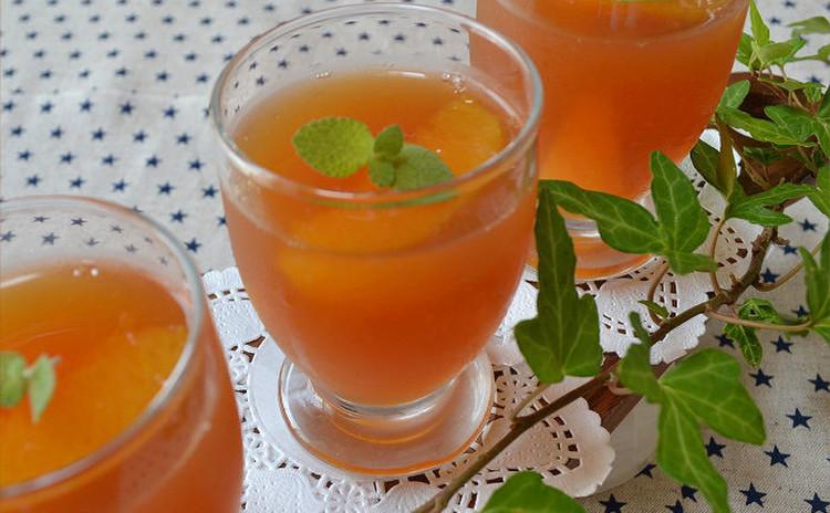 旨みたっぷり!カマンベールレアチーズ&爽やかなオレンジティーゼリー