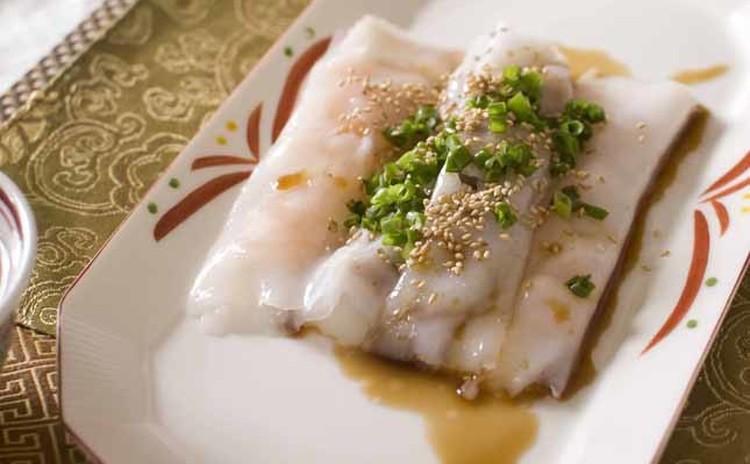 中華風クレープ(腸粉)とごはんがすすむ中華