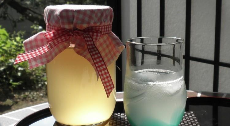 松葉レモンの漢方酵素ドリンク作り