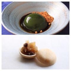 7月の和菓子レッスン♪「抹茶の水信玄餅」と「ラムレーズン最中」