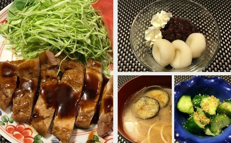 【楽#2】みんな大好き『トンテキ』やります! ~短時間で5品作ろう~料理初心者も歓迎。