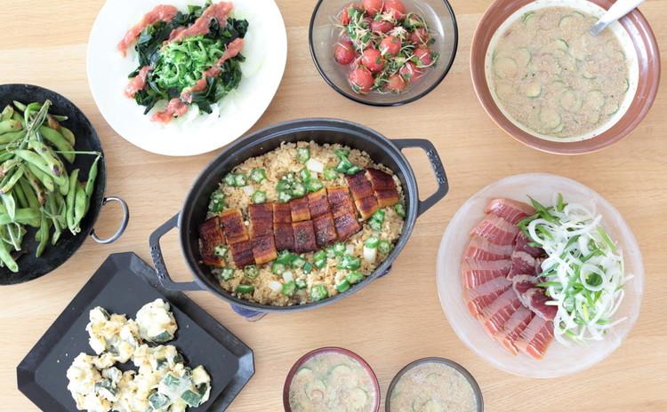 夏野菜たっぷりのお魚おもてなしカジュアル和食献立