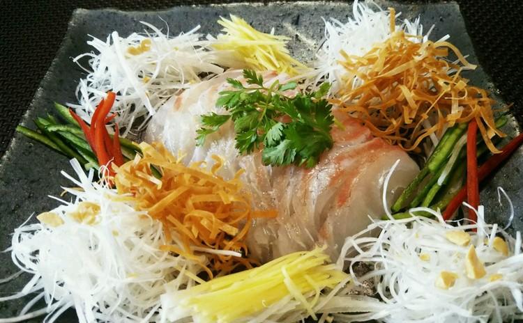 中華風鯛の刺身