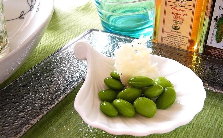 枝豆のパルミジャー風味 ガレット添え