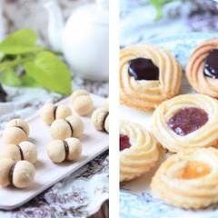 プレゼントに喜ばれる バター不使用おしゃれクッキー 2種