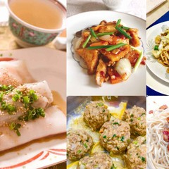 腸粉、上海冷麺、上海焼きそば、家常豆腐、山竹牛肉球