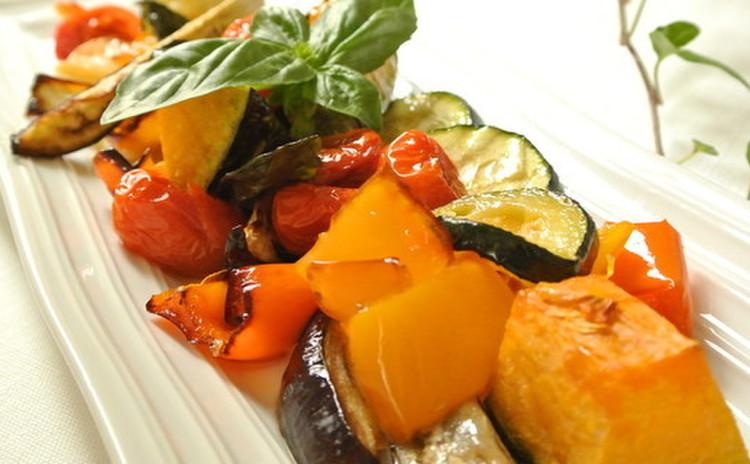 夏野菜のオーブン焼き♬マリネ風
