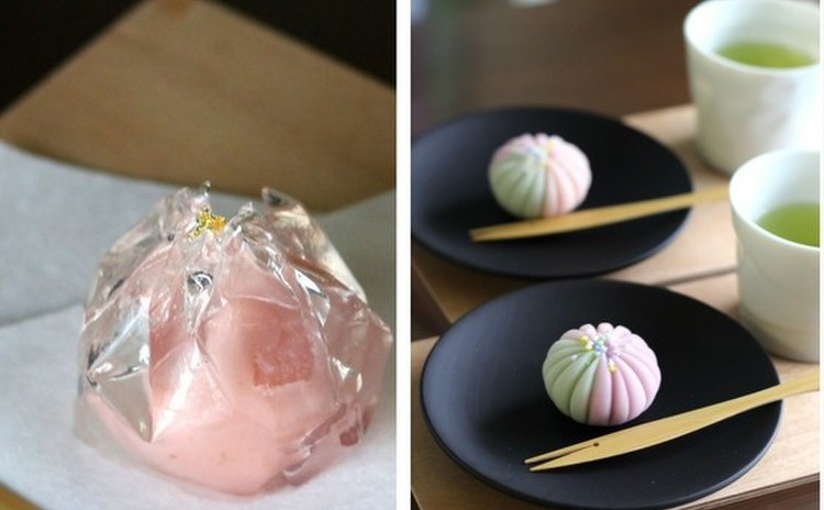夏の和菓子が二品!「水牡丹(梅餡)」と「花火」