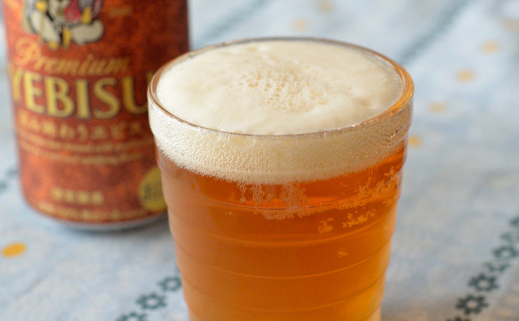 おうち居酒屋の乾杯ビール