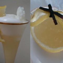 【プロが教える】(初級)レモンシャーベットとグレープフルーツのジュレ